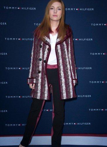 Josephine de la Baume wearing Tommy Hilfiger