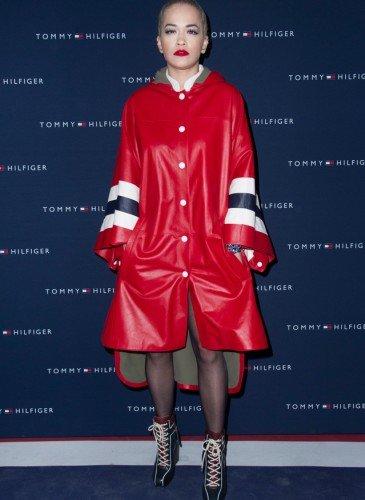 Rita Ora wearing Hilfiger Collection