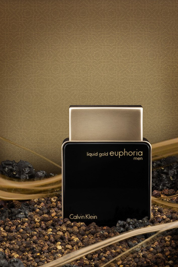 Calvin Klein Euphoria Liquid Gold for men AED 395 shot in the Middle East - Copy copy