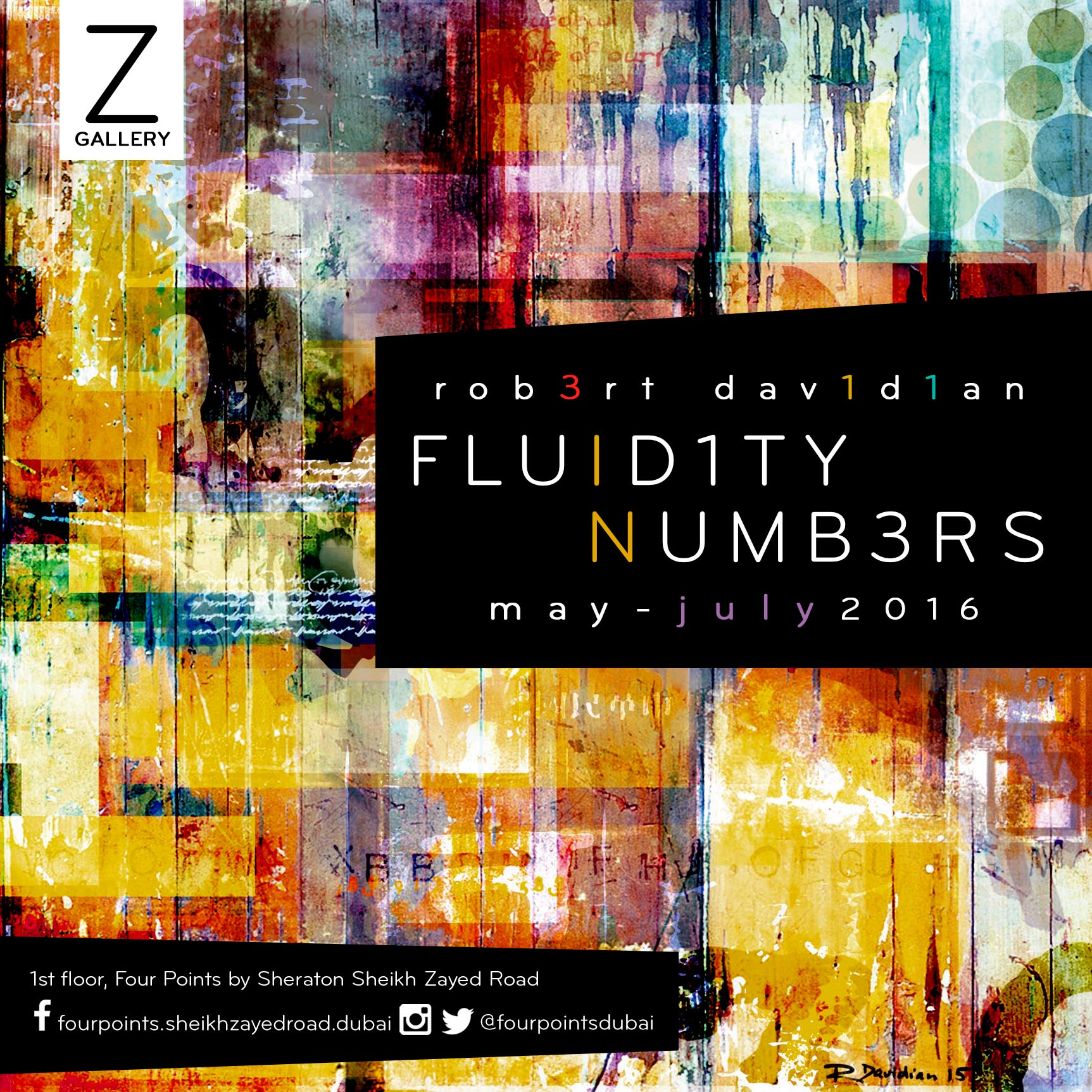 Fluidity in Numbers: Art Exhibition Showcases Numerically Inspired Paintings At The Z Gallery