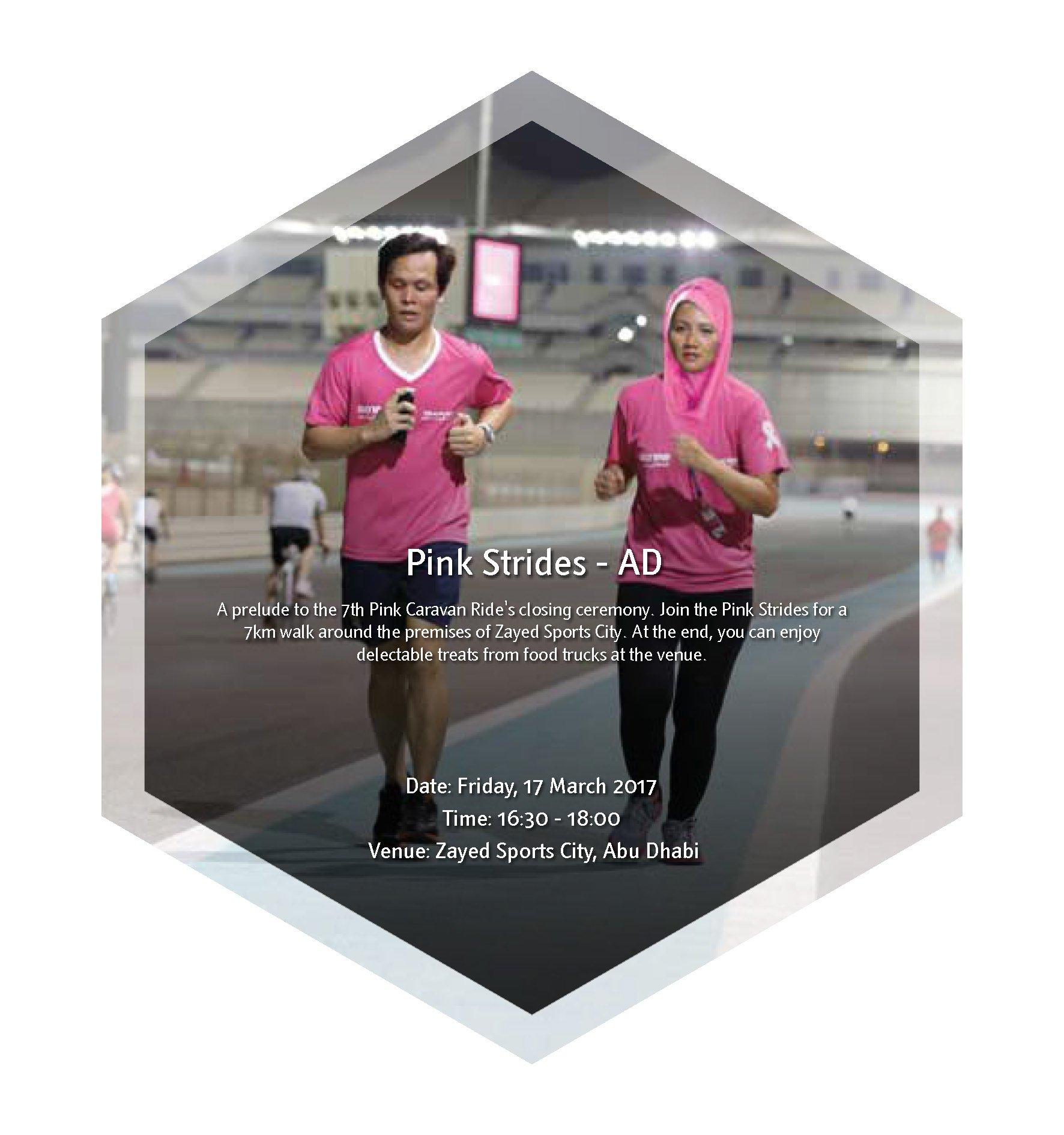 Give the 7th Pink Caravan Ride a Last Hurrah at 'Pink Strides' Abu Dhabi